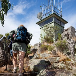 Communication and fire tower at Mt Arapiles, Victoria.