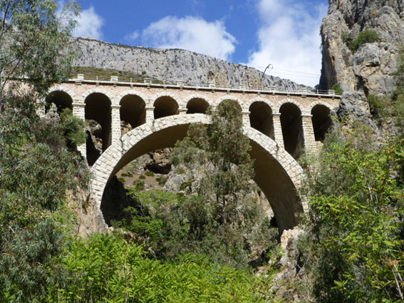 Railway bridge at El Chorro