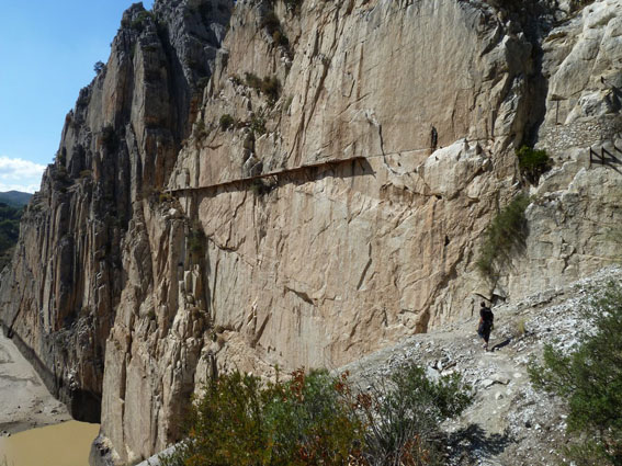 Cam at the start of the Camino del Rey