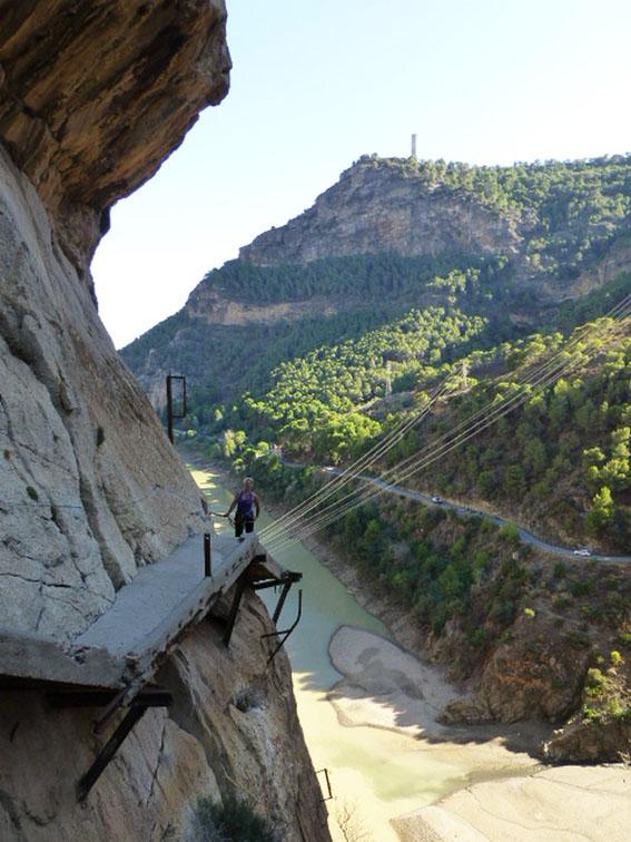 Tracey on Camino del Rey
