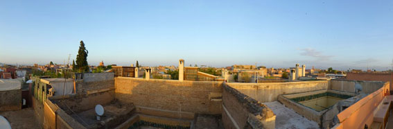 marrakech rooftop wide view day