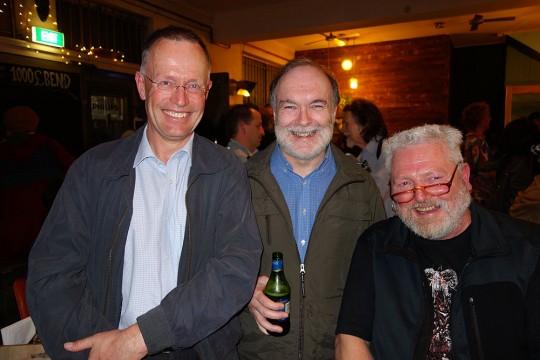 Robin Miller, Peter Watson and Glenn Robbins.