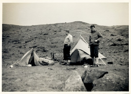 Camp at High Knott above Angle Tarn.