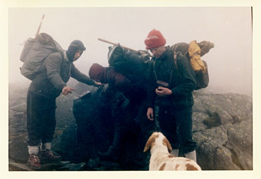Summit of Bowfell, 2960 ft. 1st Feb 1964.